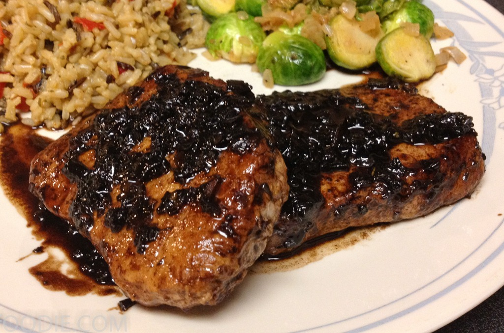 Pork Tenderloin Medallions With A Shallot Balsamic Reduction Fervent Foodie